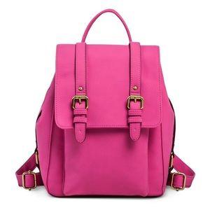 Hot Pink Mini Backpack Handbag